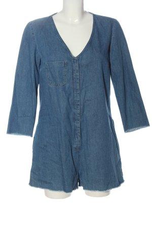 Zara Trafaluc Kurzer Jumpsuit blau Casual-Look