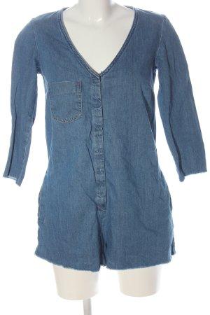 Zara Trafaluc Kurzer Jumpsuit blue casual look