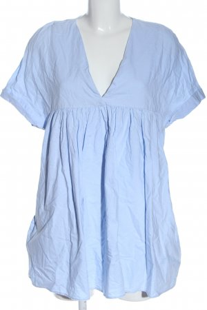 Zara Trafaluc Kurzer Jumpsuit bleu style décontracté
