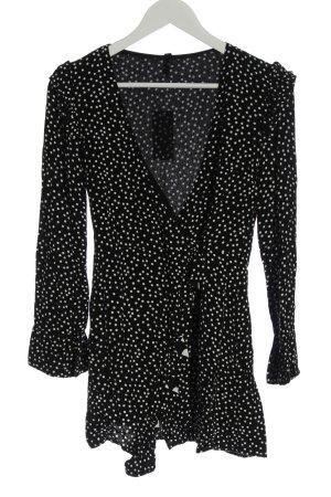 Zara Trafaluc Kurzer Jumpsuit black-white spot pattern casual look