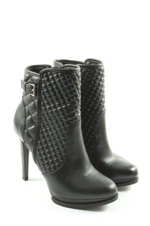 Zara Trafaluc Botte courte noir motif de courtepointe style d'affaires