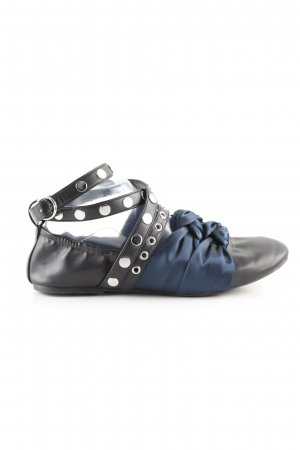 Zara Trafaluc Lackballerinas schwarz-blau Casual-Look