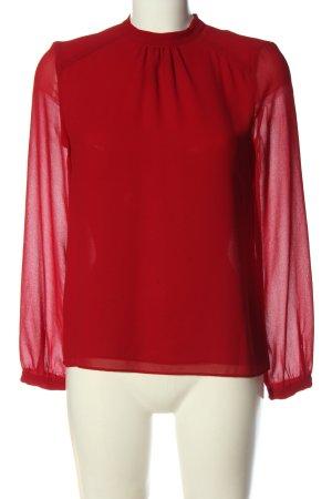 Zara Trafaluc Langarm-Bluse rot Elegant