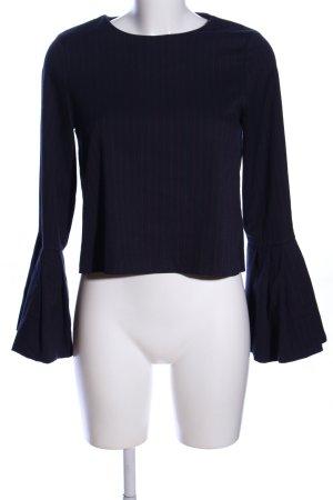 Zara Trafaluc Langarm-Bluse schwarz-rot Streifenmuster Casual-Look