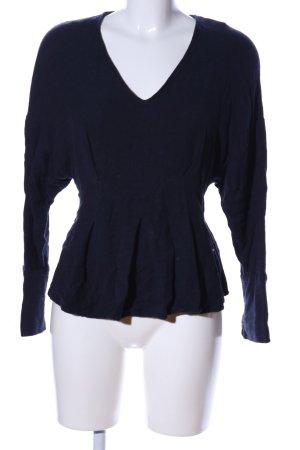 Zara Trafaluc Langarm-Bluse blau Casual-Look