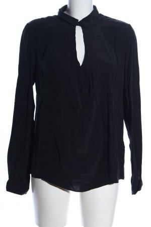 Zara Trafaluc Langarm-Bluse schwarz Business-Look