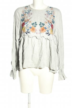 Zara Trafaluc Langarm-Bluse Blumenmuster Casual-Look