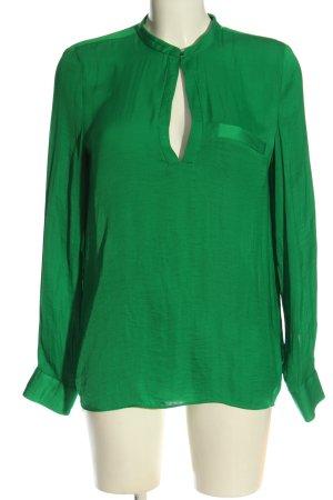 Zara Trafaluc Langarm-Bluse grün Casual-Look
