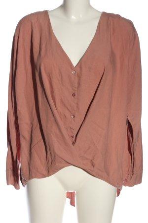 Zara Trafaluc Langarm-Bluse rot Business-Look