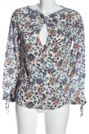Zara Trafaluc Langarm-Bluse Allover-Druck Casual-Look