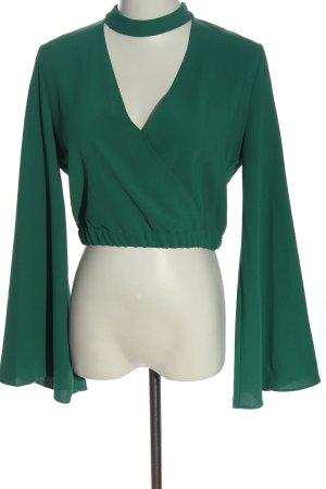 Zara Trafaluc Langarm-Bluse grün Elegant