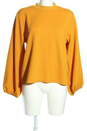Zara Trafaluc Langarm-Bluse hellorange Casual-Look