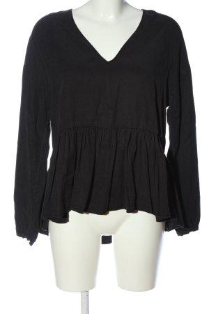 Zara Trafaluc Langarm-Bluse schwarz Casual-Look