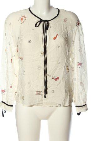 Zara Trafaluc Blusa de manga larga estampado repetido sobre toda la superficie