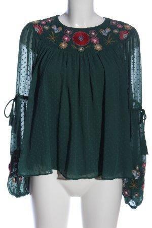Zara Trafaluc Langarm-Bluse Blumenmuster Elegant