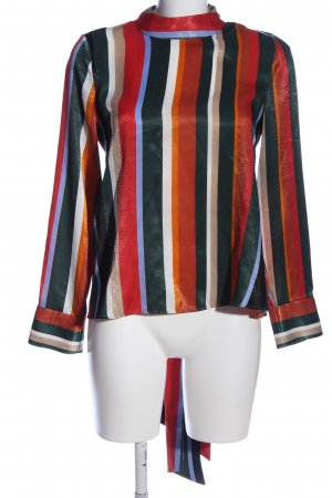 Zara Trafaluc Langarm-Bluse Streifenmuster Casual-Look