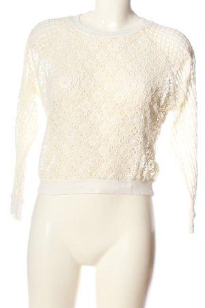 Zara Trafaluc Langarm-Bluse weiß Street-Fashion-Look