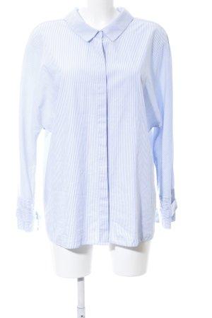 Zara Trafaluc Langarm-Bluse blau-weiß Streifenmuster Casual-Look