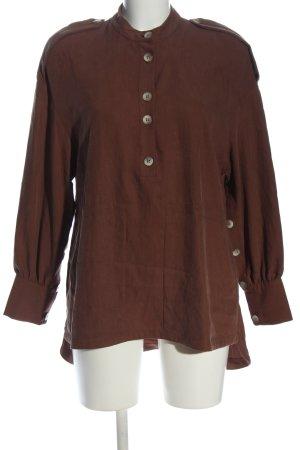 Zara Trafaluc Langarm-Bluse braun Casual-Look