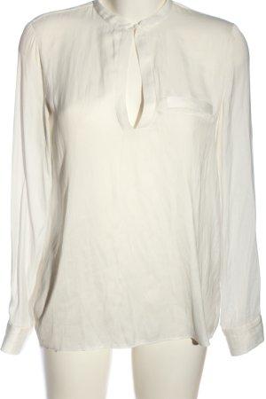 Zara Trafaluc Langarm-Bluse weiß Elegant