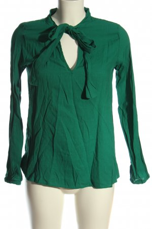 Zara Trafaluc Langarm-Bluse grün Business-Look