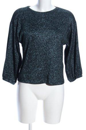 Zara Trafaluc Langarm-Bluse silberfarben Allover-Druck Elegant