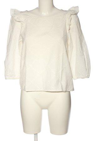 Zara Trafaluc Langarm-Bluse creme Casual-Look