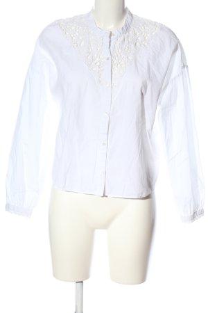 Zara Trafaluc Langarm-Bluse weiß Casual-Look