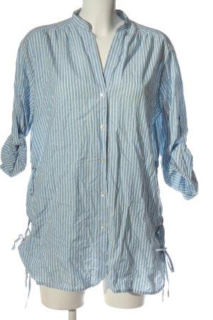 Zara Trafaluc Langarmhemd blau-weiß Streifenmuster Casual-Look