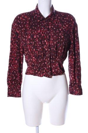 Zara Trafaluc Langarmhemd rot-schwarz abstraktes Muster Casual-Look
