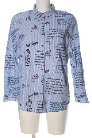 Zara Trafaluc Langarmhemd Schriftzug gedruckt Casual-Look