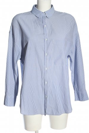 Zara Trafaluc Langarmhemd blau-weiß Streifenmuster Business-Look