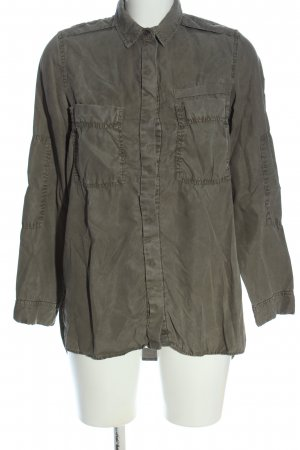 Zara Trafaluc Camicia a maniche lunghe grigio chiaro stile casual