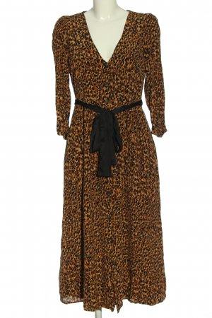 Zara Trafaluc Sukienka z długim rękawem Abstrakcyjny wzór W stylu casual