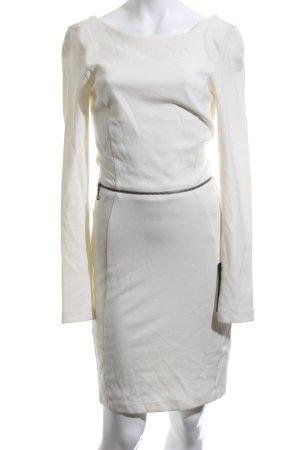Zara Trafaluc Vestido de manga larga blanco puro elegante