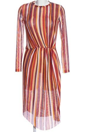 Zara Trafaluc Vestido de manga larga estampado repetido sobre toda la superficie