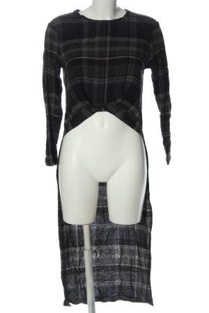 Zara Trafaluc Blusa larga negro-gris claro estampado a cuadros look casual