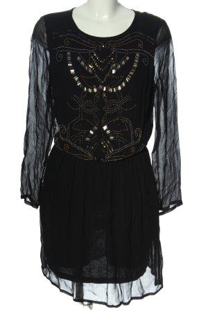 Zara Trafaluc Sukienka z długim rękawem czarny W stylu casual