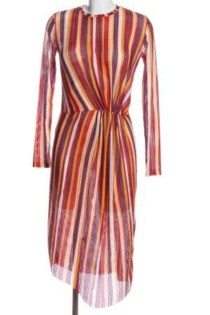 Zara Trafaluc Robe à manches longues motif rayé style décontracté