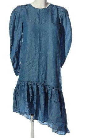 Zara Trafaluc Langarmkleid blau Casual-Look