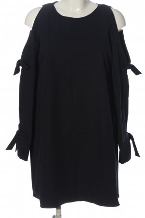 Zara Trafaluc Sukienka z długim rękawem czarny-ciemnoniebieski