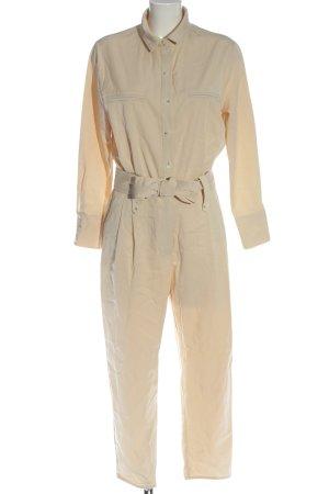Zara Trafaluc Langer Jumpsuit creme Casual-Look