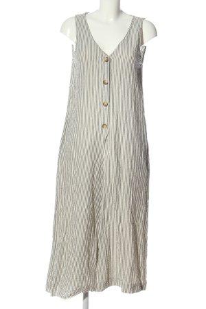 Zara Trafaluc Langer Jumpsuit white-light grey striped pattern casual look