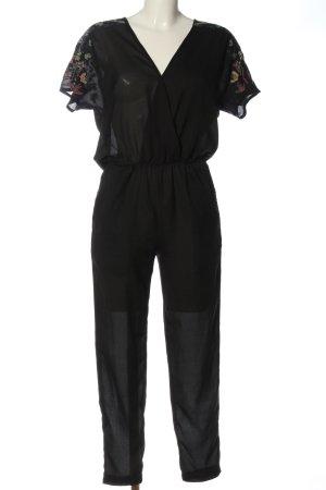 Zara Trafaluc Langer Jumpsuit schwarz Casual-Look