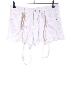 Zara Trafaluc Dungarees white casual look