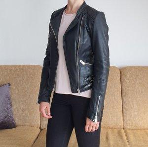 Zara Trafaluc Veste en cuir noir cuir