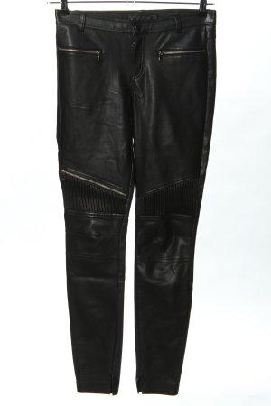 Zara Trafaluc Lederhose schwarz extravaganter Stil