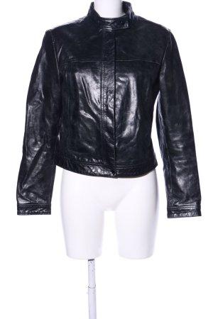 Zara Trafaluc Lederjacke schwarz Casual-Look