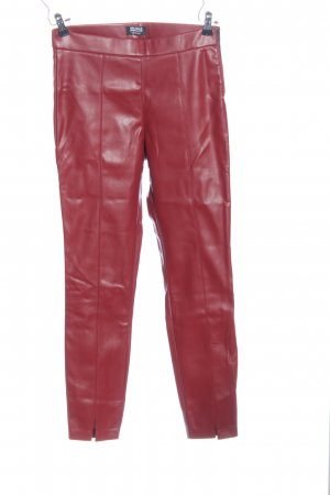 Zara Trafaluc Leggings rot Casual-Look