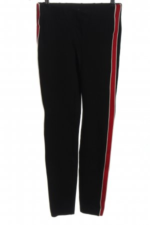 Zara Trafaluc Leggings black-red casual look